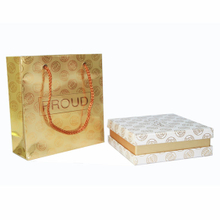 Luxury Golden Perfume Box with Shopping Bag, Printing Service