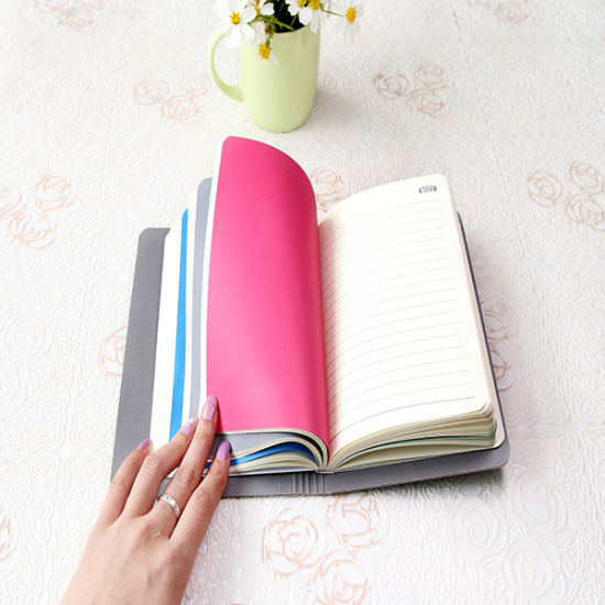 Customized Delicate Notebook with Rubber