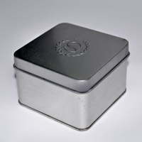 Square Metal Box, Embossing, Exquisite