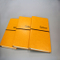 Yellow PU Leather Note Book with Rubber Band