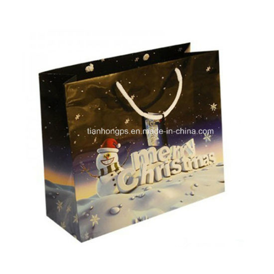 Recycled Christmas Paper Gift Bags (OEM-PB025)